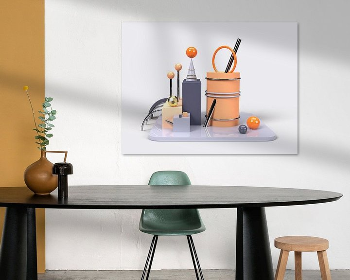 Beispiel: 3D Abstrakte Kunst Blau Orange 1 von shoott photography