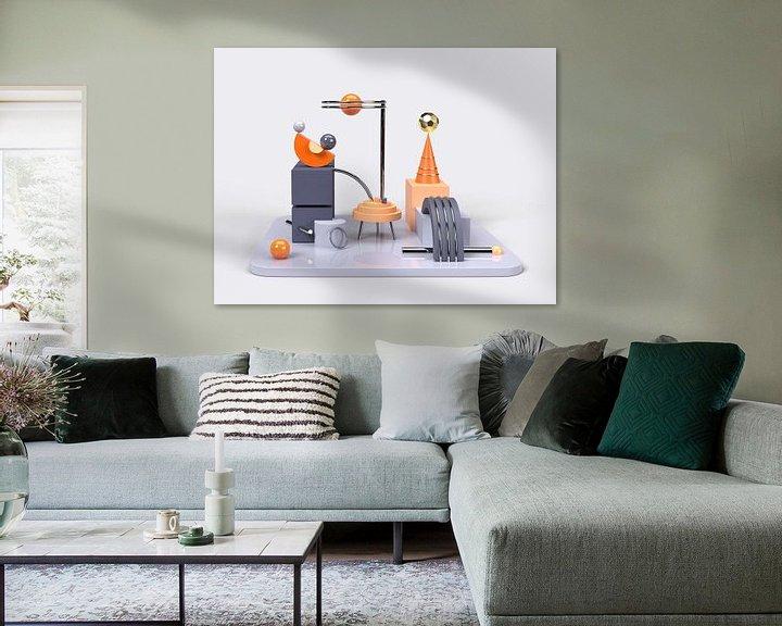 Beispiel: 3D Abstrakte Kunst Orange Blau 2 von shoott photography