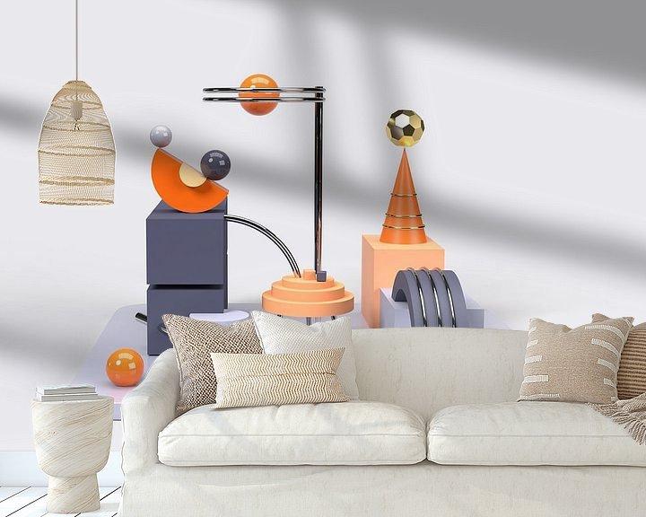 Beispiel fototapete: 3D Abstrakte Kunst Orange Blau 2 von shoott photography