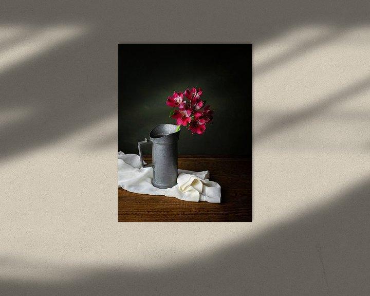 Impression: Alstroemeria, nature morte classique sur Joske Kempink