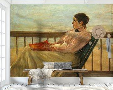 Woman Reading a Book van Antonije Lazovic