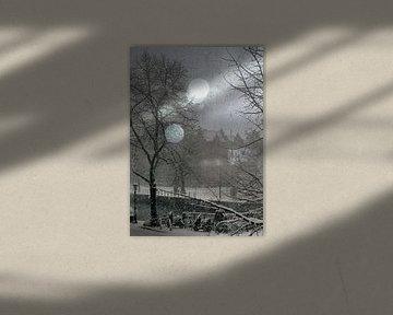 Winter sneeuw  van Marianna Pobedimova