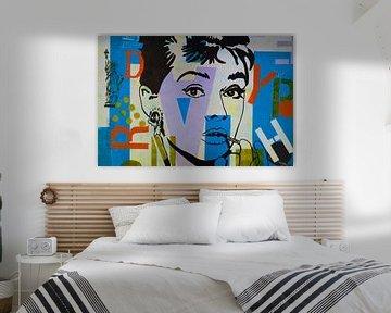"""Audrey Hepburn """"NYC"""" van Kathleen Artist Fine Art"""