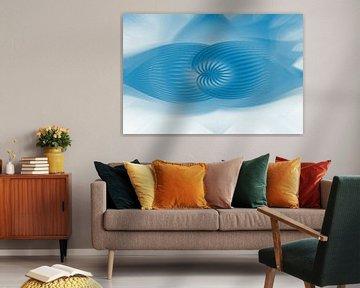 Fantasie in Blau und Weiß von Francis Dost