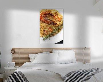 Pasta met reuzengarnalen van Dirk Rüter