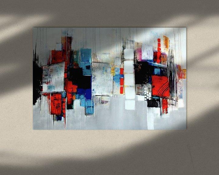 Impression: Composition abstraite en bleu,rouge,blanc No.3 sur Claudia Neubauer