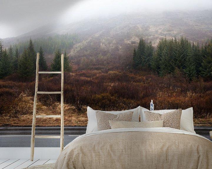 Sfeerimpressie behang: Ijslands bos van W Machiels