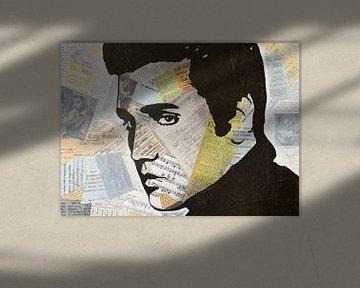 Elvis Presley Love Song van Kathleen Artist Fine Art