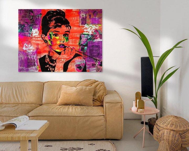 Beispiel: Audrey Hepburn Coca von Kathleen Artist Fine Art
