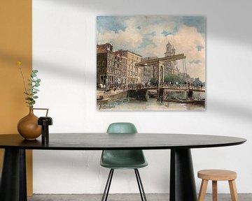 Amsterdam Die Houtgracht, später Waterlooplein, Johan Braakensiek, 1867 - 1875
