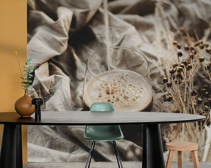 Sfeerimpressie behang: Koffie van Melanie Schat