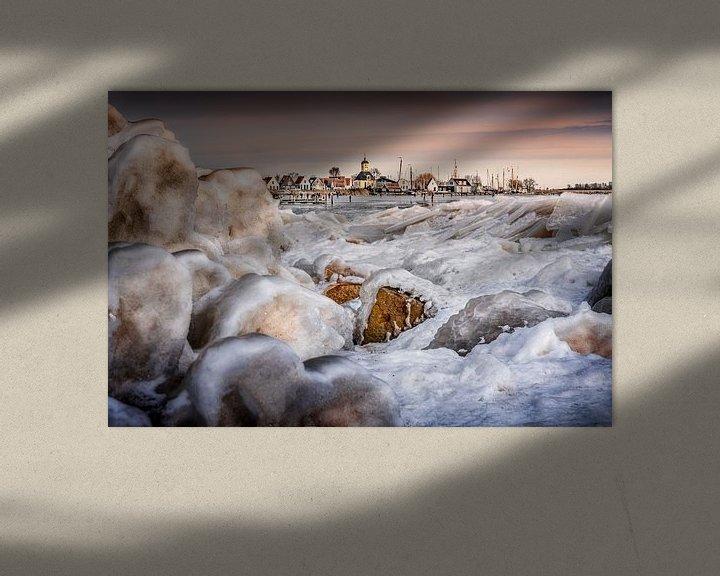 Sfeerimpressie: Winter in Durgerdam van Ruud Peters