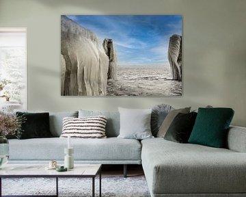 Winter op het IJsselmeer van Bert de Boer