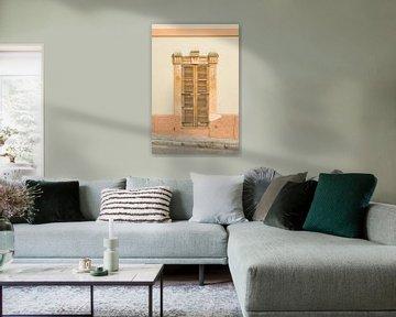 Geschlossene Holzfensterläden von Stefania van Lieshout