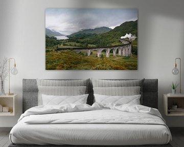 Glenfinnan viaduct in Schotland van Tim Vlielander