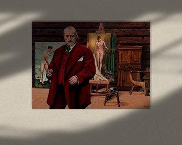 Anders Zorn in Atelier Schilderij van Paul Meijering