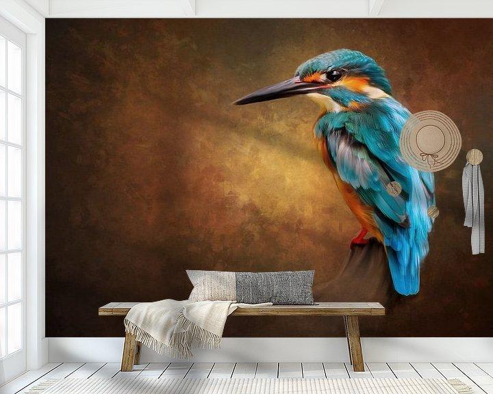 Sfeerimpressie behang: Dier 11 van Silvia Creemers