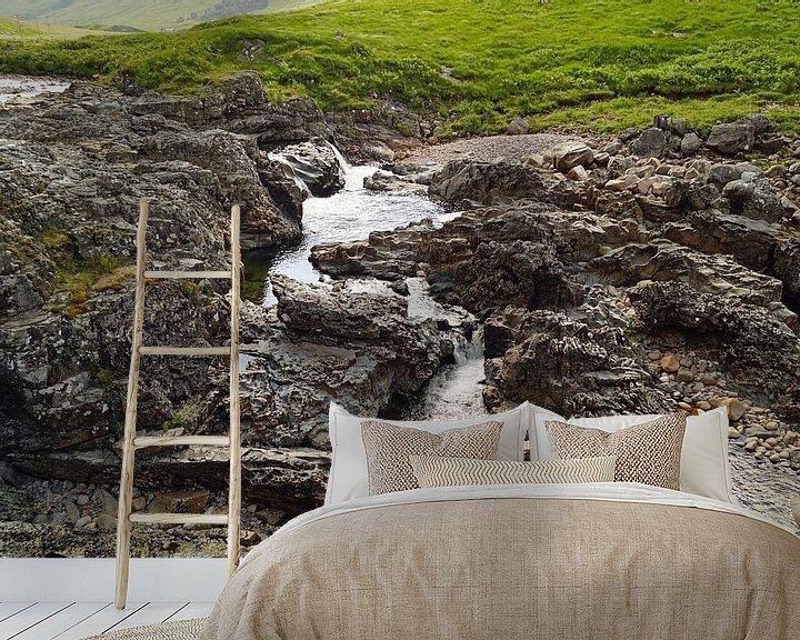 Sfeerimpressie behang: Neem de stoeltjeslift in Glencoe Mountain Resort. Uitzicht op het betoverende landschap van Babetts Bildergalerie