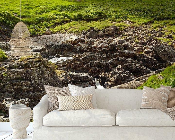Beispiel fototapete: Fahrt mit dem Sessellift im Glencoe Mountain Resort. Blick auf die bezaubernde Landschaft von Babetts Bildergalerie