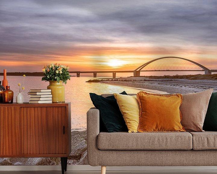 Beispiel fototapete: Fehmarnsundbrücke von Steffen Henze