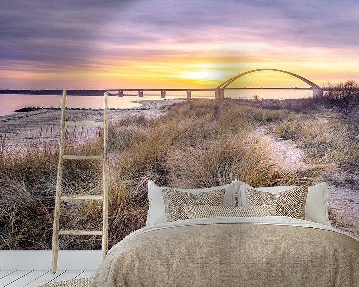 Beispiel fototapete: Sonnenuntergang auf Fehmarn von Steffen Henze