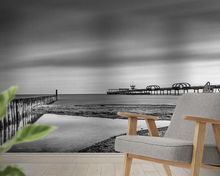 Beispiel fototapete: Die Seebrücke von Kellenhusen von Steffen Henze
