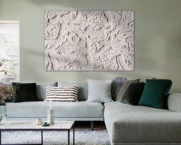 Holzwurm Scheitel Kunst - Höhlenkunst - abstrakt -  graffiti - Keith Haring von John Quendag