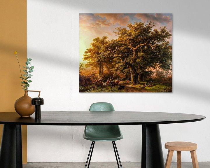 Beispiel: Blick in den Wald, digital restauriert von Lars van de Goor