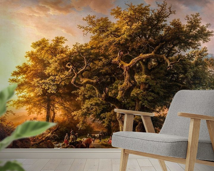 Beispiel fototapete: Blick in den Wald, digital restauriert von Lars van de Goor