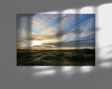 Texelse golfbaan overzicht van Peter van Weel
