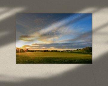 Texel Golfplatz grün Nahaufnahme von Peter van Weel