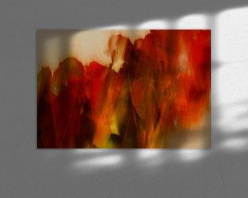 Abstracte natuur van Marijke van Loon