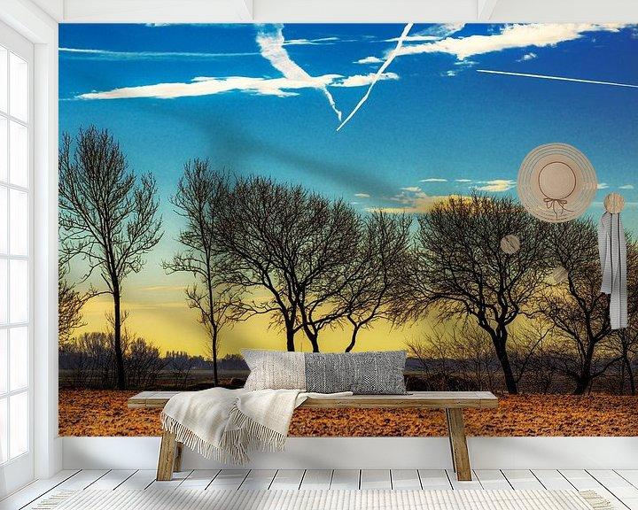 Sfeerimpressie behang: Het Bildt van Harrie Muis