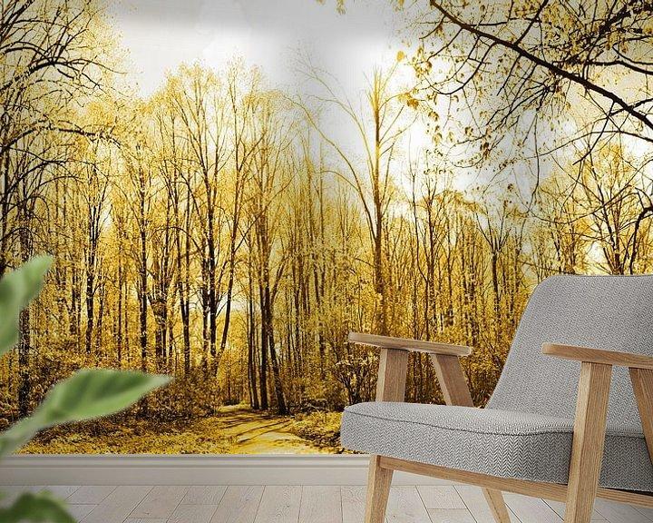 Sfeerimpressie behang: Gouden Amsterdam Bos van Hendrik-Jan Kornelis