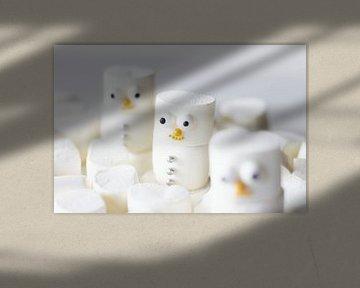Marshmallow Schneemann