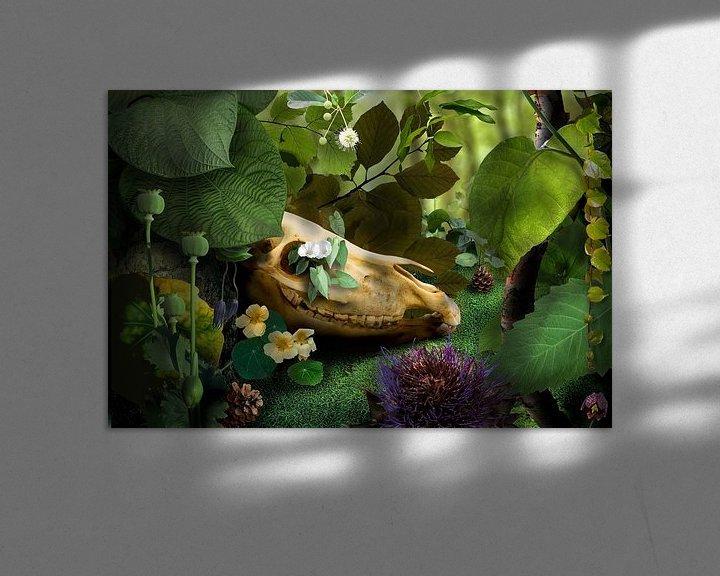 Sfeerimpressie: Surrealistisch landschap van Marijke van Loon