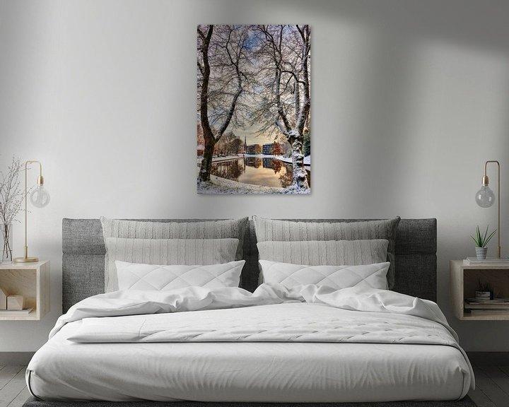 Sfeerimpressie: Stadsgracht Leeuwarden van Harrie Muis
