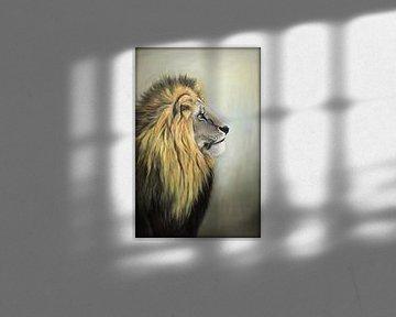 Leeuw...majestic.. ( Olieverfschilderij)