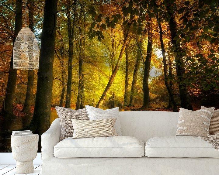 Sfeerimpressie behang: Leuvenumse beek van Jan Paul Kraaij