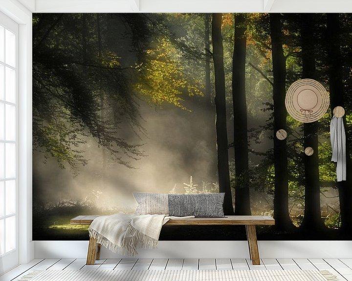 Sfeerimpressie behang: Feeëriek van Jan Paul Kraaij