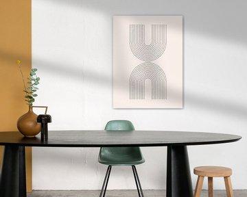 Retro 1920er Jahre Vintage geometrische Form im Bauhaus-Stil .Nr.20 von Dina Dankers
