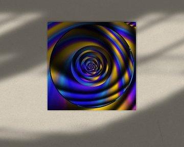 goud blauw Cirkel van Claudia Gründler
