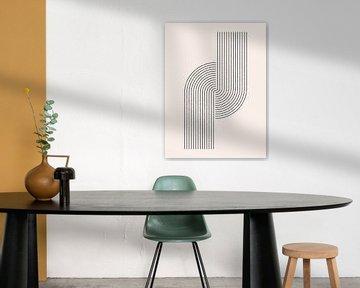 Retro jaren 20 vintage  geometric shape in Bauhaus stijl . Nr.14 van Dina Dankers