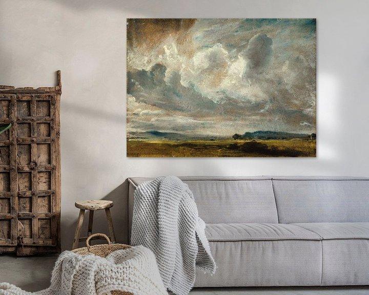 Beispiel: Studie der Wolken über einer Landschaft von Antonije Lazovic