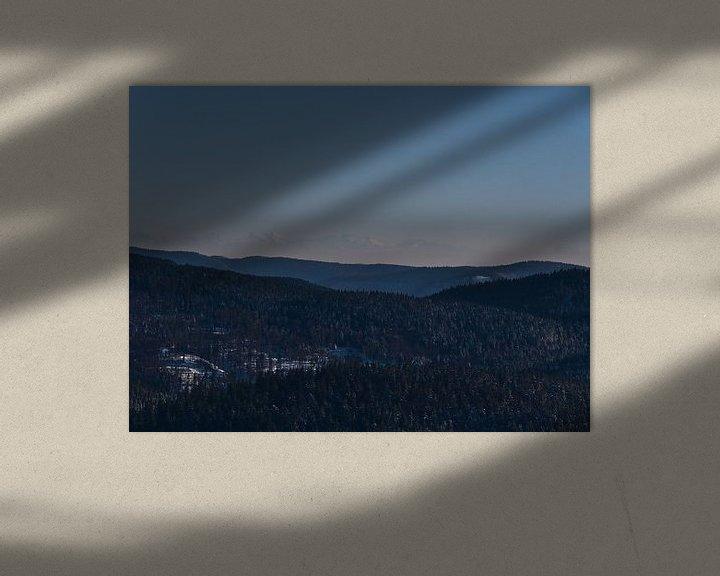 Sfeerimpressie: Zuidelijk Zwarte Woud met Alpen in de winter van Timon Schneider