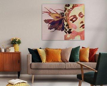 Flora Collage Letzter Tanz von Helia Tayebi Art
