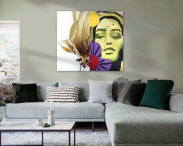 Flora Collage Sommerbrise von Helia Tayebi Art