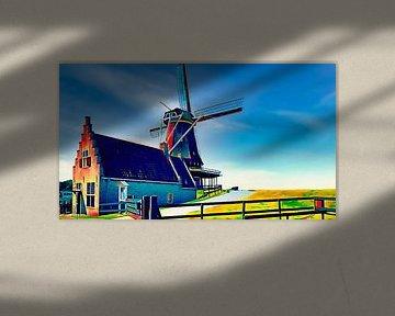 Getreidemühle De Herder, Medemblik von Digital Art Nederland