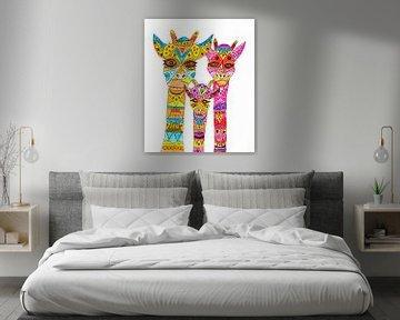 Grappige giraffen van Inge Knol