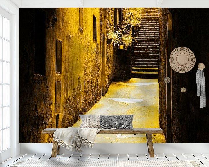 Sfeerimpressie behang: Italiaanse Gouden Stadsgezichten van Hendrik-Jan Kornelis